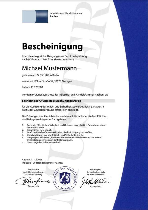 sachkundeprüfung §34 a